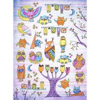 Рисовая бумага «Веселые совы»