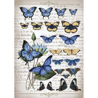 Рисовая бумага «Коллекция бабочек»