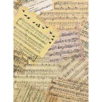 Рисовая бумага «Старинные ноты»