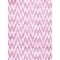 Рисовая бумага «Розовый зиг-заг»