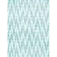 Рисовая бумага «Голубой зиг-заг»