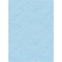 Рисовая бумага «Горошек на голубом»