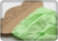 Шебби ленточка свежая зелень