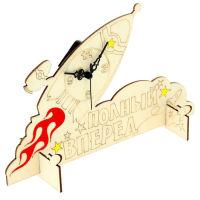 Деревянные часы-раскраска «Полный вперед»