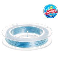 Леска для создания браслетов, растягивающаяся, цвет голубой