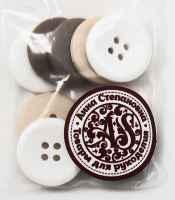 Набор пуговиц «Молочный шоколад»