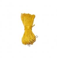 Шнур вощеный желтый