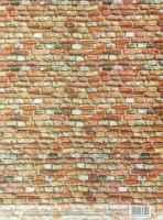 Декупажная карта «Кирпичная стена»