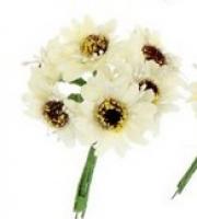 Букетик «Нежные цветы» кремовый