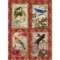 Рисовая бумага «Открытки с птицами»