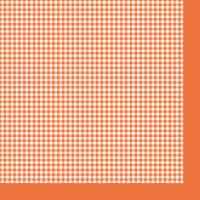 Салфетка «Оранжевая клетка» №543