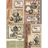 Рисовая бумага «Чайный сервиз»