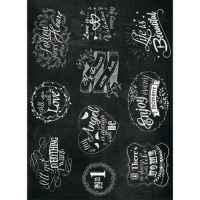 Рисовая бумага «Надписи мелом»