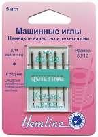 Иглы для бытовых швейных машин квилтинг № 80 (медиум)
