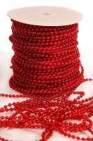 Бусины в рулоне «Красные» 4 мм.