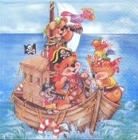 Салфетка «Мишка пират» №553