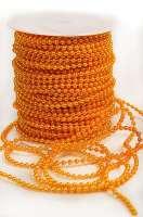 Бусины в рулоне «Желтые» 4 мм.