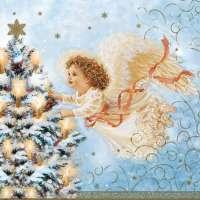 Салфетка «Рождественский ангел» №593