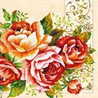Салфетка «Розы» №633