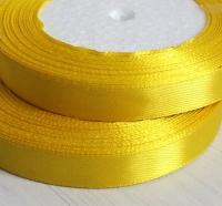 Лента атласная ярко-желтый