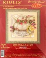 Набор для вышивания крестиком «Чай с лимоном» 1477