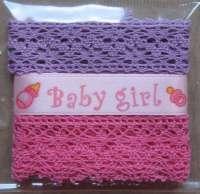 Набор лент «Baby girl» мини