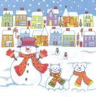 Салфетка «Веселые снеговики»