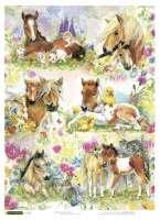 Рисовая бумага «Лошадки»
