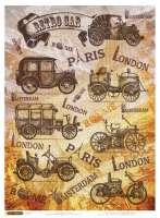 Рисовая бумага «Ретро автомобили»