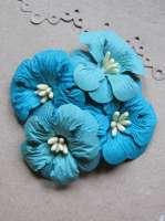 Цветы «Голубой сад» бумажные