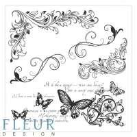 Набор штампов «Завитки и бабочки»