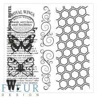 Набор фоновых штампов «Винтаж с бабочками»