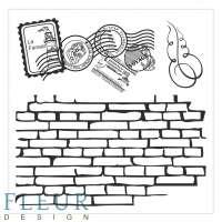 Набор фоновых штампов «Стена с марками»