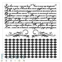 Набор фоновых штампов «Текст и ромбы»