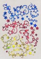 Вырубка «Звезды» блестящие
