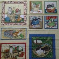 Ткань для пэчворка «Кошки»