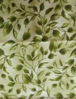 Ткань для пэчворка «Зеленые листья»