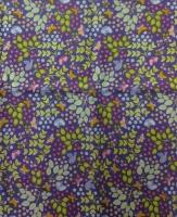 Ткань для пэчворка «Бабочки и птички на синем»