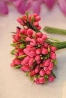 Декоративный букетик «Темно-розовый»