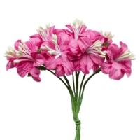 Букетик ярко-розовый