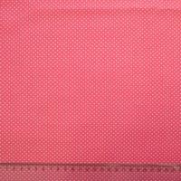 Ткань «Горошек» розовая