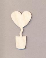 Заготовка для магнита «Топиарий-сердце»