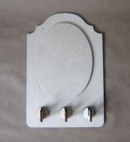 Полка-ключница «Овальное панно»