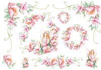 Бумага рисовая для декупажа «Фея розовых  цветов »