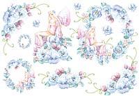 Бумага рисовая для декупажа «Фея голубых цветов»