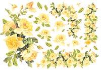 Бумага рисовая для декупажа «Желтые розы»