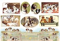 Бумага рисовая для декупажа «Собаки»