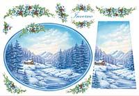Бумага рисовая для декупажа «Зима»