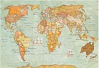 Бумага рисовая для декупажа «Карта»