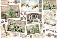 Бумага рисовая для декупажа «Рим»